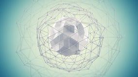 A forma futurista 3d da rede rende Fotografia de Stock Royalty Free