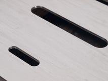 Forma futurista do círculo de aço inoxidável do entalhe do laser cortada Fotos de Stock Royalty Free