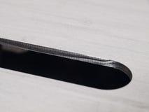 Forma futurista do círculo de aço inoxidável do entalhe do laser cortada Fotografia de Stock Royalty Free