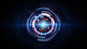 Forma futuristica di incandescenza di rosso blu Immagini Stock Libere da Diritti