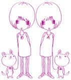 Forma-gêmeos ilustração stock
