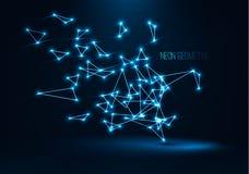 Forma geométrica abstrata da tecnologia Ilustrações 3d digitais do vetor Imagem de Stock