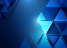Forma geométrica abstrata e conceito digital b da tecnologia da tecnologia olá! ilustração stock