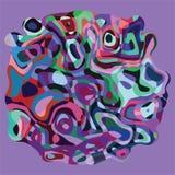 Forma geométrica com molde ondulado colorido abstrato do cartão do fundo Imagem de Stock Royalty Free