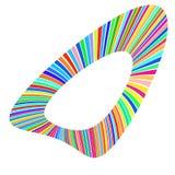 Forma geométrica de rayas multicoloras brillantes ilustración del vector