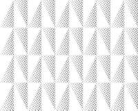 Forma geométrica del triángulo de semitono de la pantalla Fondo negro Textura y modelo blancos plegamiento de papel plisados Fotos de archivo