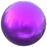 Forma geométrica do círculo básico redondo roxo da bola do botão da esfera Imagem de Stock