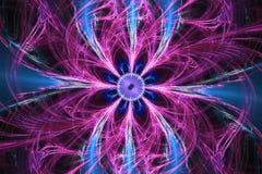 A forma geométrica do fractal pode ilustrar dos sonhos psicadélicos do espaço da imaginação da fantasia a explosão nuclear mágica Fotografia de Stock Royalty Free