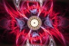 A forma geométrica do fractal pode ilustrar dos sonhos psicadélicos do espaço da imaginação da fantasia testes padrões mágicos da fotos de stock royalty free