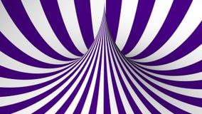 Forma geométrica púrpura y blanca stock de ilustración