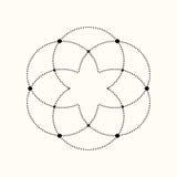 Forma geométrica punteada vector Fotos de archivo libres de regalías