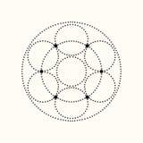 Forma geométrica punteada vector Imagen de archivo libre de regalías