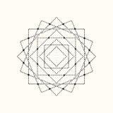 Forma geométrica punteada vector Fotografía de archivo libre de regalías