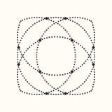 Forma geométrica punteada vector Imagenes de archivo