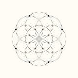 Forma geométrica punteada vector Fotos de archivo