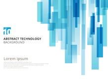 Forma geométrica sobreposta vertical dos quadrados da tecnologia abstrata Imagens de Stock Royalty Free