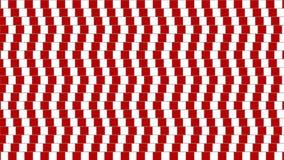 Forma geométrica torcida abstrata da ilusão ótica filme
