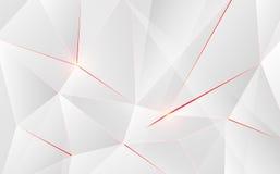 Forma geometrica astratta del triangolo con il chiarore leggero su fondo Fotografia Stock Libera da Diritti