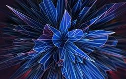 Forma geometrica astratta futuristica Immagine Stock