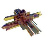 Forma geometrica del metallo astratto Fotografia Stock Libera da Diritti