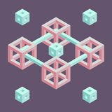 Forma geometrica isometrica Immagine Stock Libera da Diritti