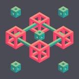 Forma geometrica isometrica Fotografia Stock Libera da Diritti