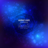 Forma geometrica ottagonale 3D di vettore blu astratto del fondo Fotografia Stock