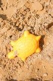 Forma giallo sabbia Immagini Stock