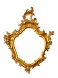 Forma incomun do frame do ouro Imagens de Stock Royalty Free