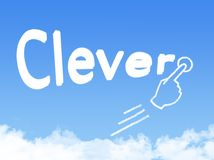 Forma inteligente da nuvem da mensagem ilustração stock