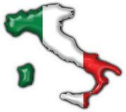 Forma italiana do mapa da bandeira da tecla ilustração do vetor