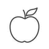 Forma linear de Apple ilustração do vetor