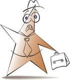 Forma loca un hombre en sombrero ilustración del vector