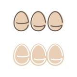 Forma Logo Set dell'uovo Logotype di stile di minimalismo Vettore Immagine Stock