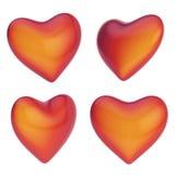 Forma lucida del cuore isolata Fotografia Stock Libera da Diritti