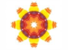 Forma luminosa astratta di colore su fondo bianco Fotografia Stock Libera da Diritti