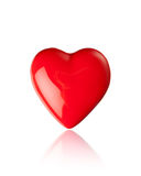 Forma lustrosa do coração vermelho Imagem de Stock Royalty Free