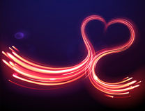 Forma mágica do coração Imagem de Stock Royalty Free