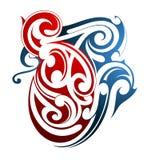 Forma maorí del tatuaje Imagen de archivo libre de regalías
