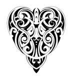 Forma maori del cuore di stile illustrazione di stock