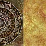 Forma marítima geométrica, color de oro del fondo Fotos de archivo