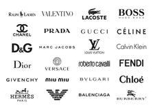 A forma marca logotipos Imagem de Stock