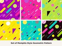 Forma Memphis Style Geometric Pattern do moderno Foto de Stock Royalty Free