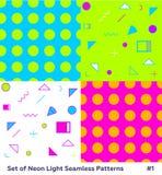 Forma Memphis Style Geometric Pattern do moderno Foto de Stock