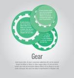 Forma moderna e chiara del cerchio del modello Può essere usato per infographic illustrazione vettoriale