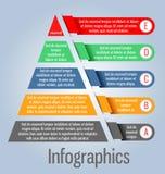 Forma moderna e chiara della piramide del modello Può essere usato per il infographi Fotografia Stock