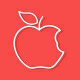 Forma mordida do esboço da maçã ilustração royalty free