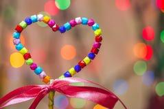 Forma multicolora del corazón Fotografía de archivo