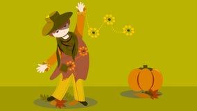 Forma na mão do outono tirada foto de stock