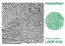Forma negra de la huella dactilar segura finger de la identificación de la identificación Foto de archivo libre de regalías